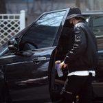 Nam Joo-hyuk with his land rover car