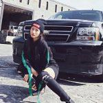 YaYa Truong Nhi with her car