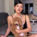 YaYa Truong Nhi with her pet dog