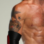 Adam Copeland's righthand tattoos