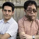 Adam Pearson with his brother Neil Pearson