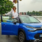Barbara Opsomer with her car