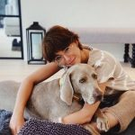 Barbara Opsomer with her pet dog