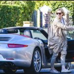 Cate Blanchett with her car