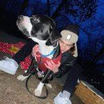Corey Fogelmanis with his pet dog