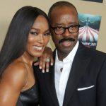 Courtney B. Vance with his girlfriend Angela Bassett