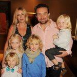 Eddie Marsan with his wife Janine Schneider and children