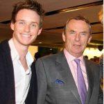 Eddie Redmayne with his father Richard Redmayne