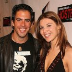 Eli Roth with his ex-girlfriend Barbara Nedeljakova