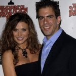 Eli Roth with his ex-girlfriend Cerina Vincent