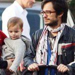 Gael Garcia Bernal with his son