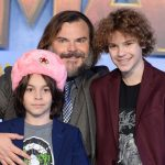 Jack Black with his sons