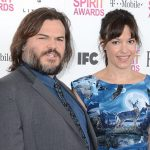 Jack Black with his wife
