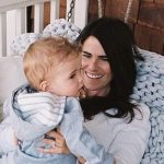 Karla Souza with her son