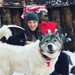 Katrina Norman with her pet dog