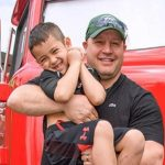 Kevin James with his son Kannon Valentine James