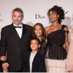 Luc Besson with his wife Virginie Besson-Silla and children