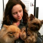 Lulu Wilson with her pet dogs