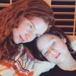 Lulu Wilson with her sister Annalise Basso