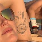 Malin Åkerman's left hand tattoo