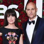 Mark Strong with his wife Liza Marshall