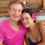 Natalia Reyes withj her father Jaime Reyes