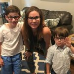 Owen Vaccaro with his brother and sister