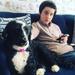 Owen Vaccaro with his pet dog