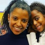 Renee Elise Goldsberry with her daughter Brielle Johnson