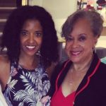 Renee Elise Goldsberry with her mother Betty Sanders