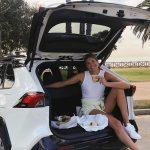 Alix Klineman with her car