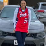 Allisha Gray with her car