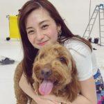 Ayami Nakajô with her pet dog