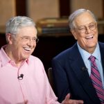 Charles Koch with his brother David Koch