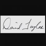 David Taylor signature