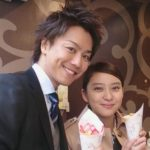 Emi Takei with her husband Takahiro