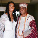 Foluke Akinradewo with her father Ayoola Akinradewo