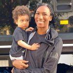 Foluke Akinradewo with her son Kayode Gunderson