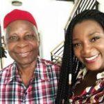 Genevieve Nnaji with her father Theophilus Nnaji