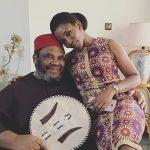 Genevieve Nnaji with her husband Pete Edochie
