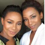 Genevieve Nnaji with her sister Ebuka Nnaji