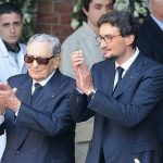 Giovanni Ferrero with his father Michele Ferrero