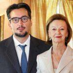 Giovanni Ferrero with his mother Maria Franca Fissolo
