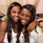 Jackie Young with her sister Kiare Young