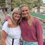 Katie Nageotte with her mother Diane Nageotte