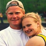 Katie Nageotte with her pet father Mark Nageotte
