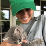 Lee Kiefer with her pet cat
