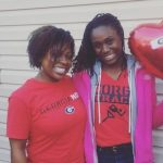 Lynna Irby with her mother Nakela Young
