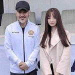 Ma Huateng with his daughter Ma Manlin