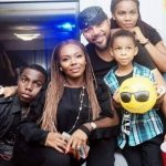 Ramsey Nouah with his wife Emelia Philips-Nouah and children